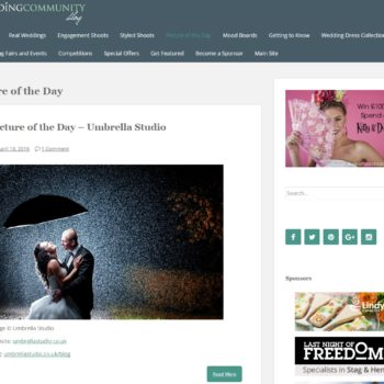weddingcommunity 350x350 - Singing in the rain - Eveline and Jarek engagement shoot / wedding photographers