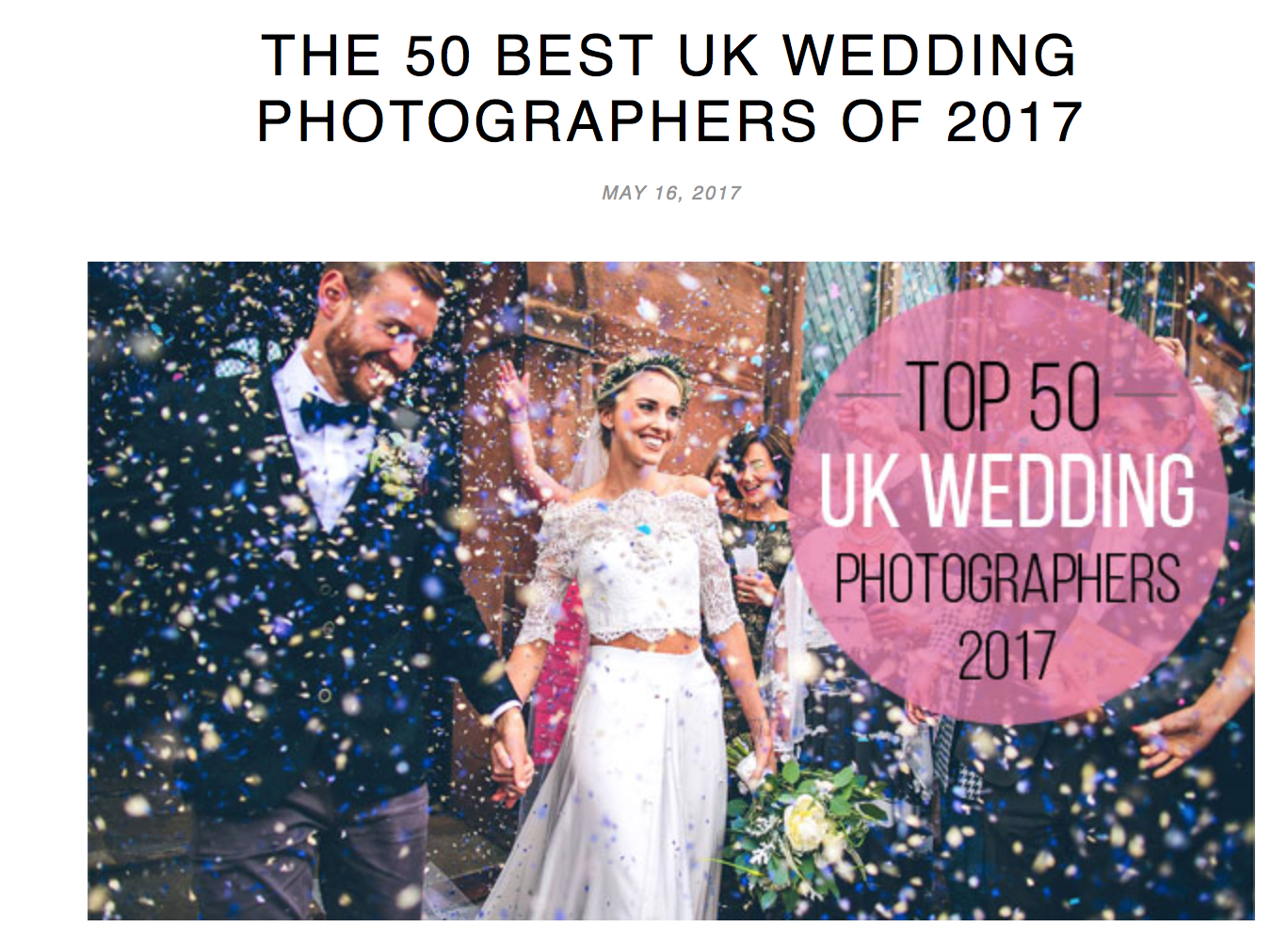Screen Shot 2017 06 01 at 19.00.06 - Amongst the top 50 UK Wedding Photographers