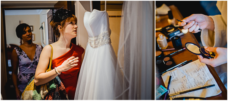wedding photographer Windsor, viewing bridesmaid wedding dresses