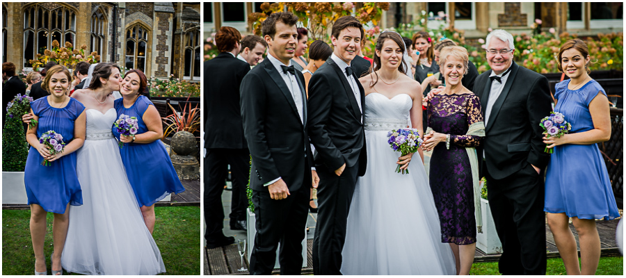 windsor wedding photographer, group photo of the bridesmaids and groomsmen