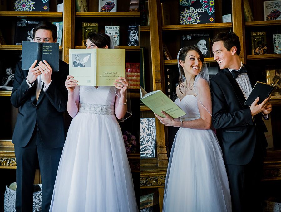 wedding photographer Windsor, creative session in the library