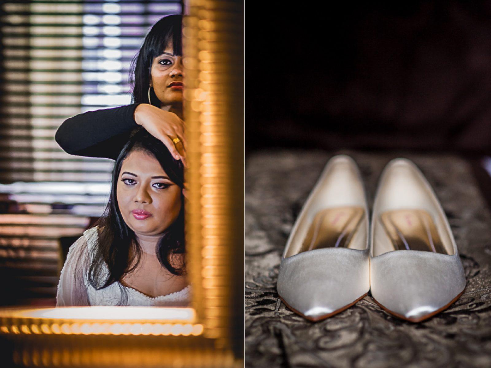 bride shoes details photography
