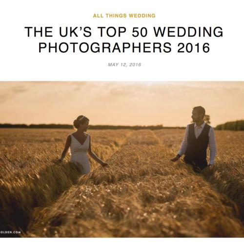 UK's Top 50 Wedding Photographers 2016