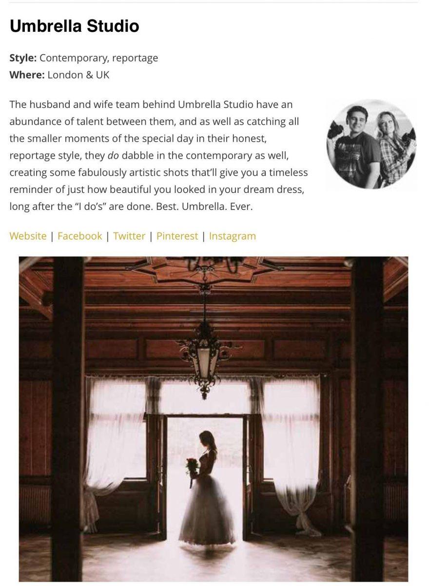 amongst the top 50 UK Wedding Photographers