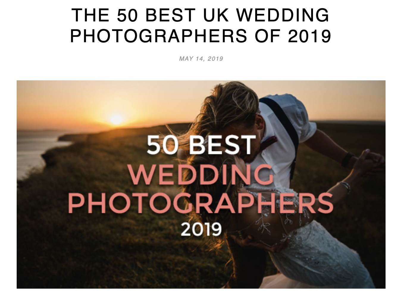 Screenshot 2019 05 14 at 20.33.36 - THE 50 BEST UK WEDDING PHOTOGRAPHERS OF 2019